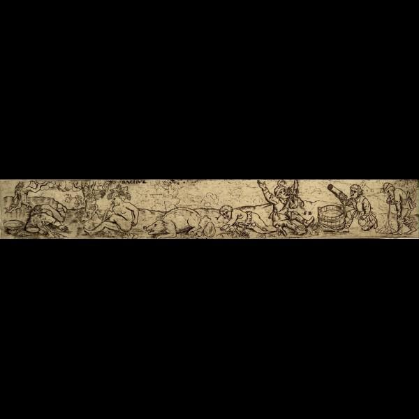 BRUN FRANZ ( CA.1535-CA.1610/20 )  - FRISE AVEC BACCHUS ET DES PAYSANS