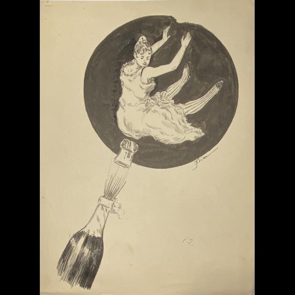 FRIM  LESAGE.G DIT ( ACTIF CA.1890 -1900 )  - LE BOUCHON DE CHAMPAGNE