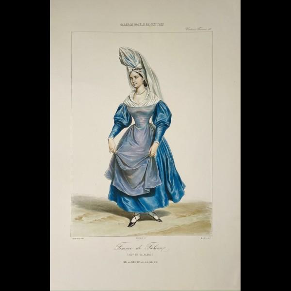 ALOPHE ALEXANDRE (1812-1883) - FEMME DE FALAISE