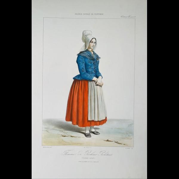 ALOPHE ALEXANDRE (1812-1883) - FEMME DE PECHEUR POLETAIS