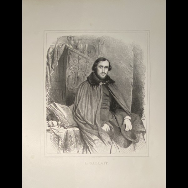 BAUGNIET CHARLES ( 1814-1886 ) - PORTRAIT DE LOUIS GALLAIT