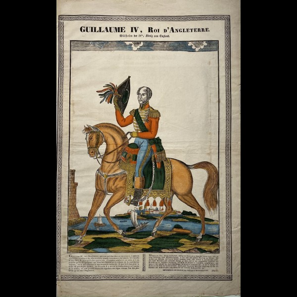 ANONYME XIXè - GUILLAUME IV ROI D'ANGLETERRE