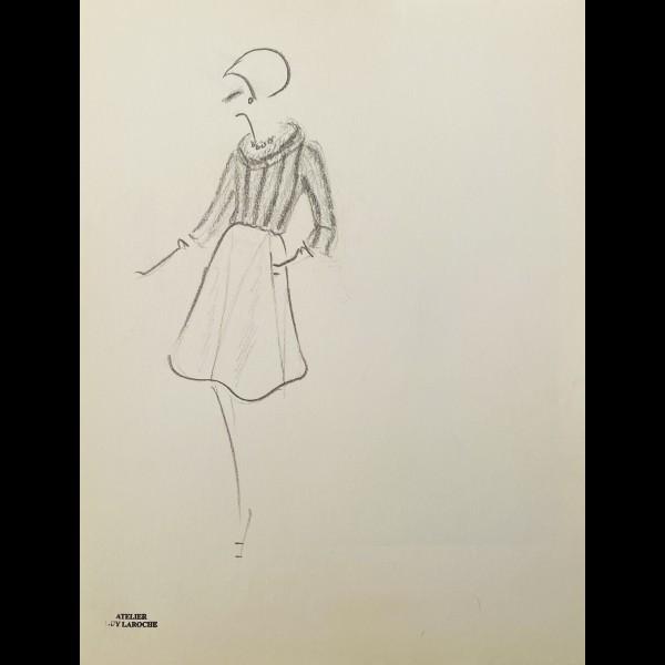 ANONYME - CROQUIS DE MODE DE L'ATELIER GUY LAROCHE
