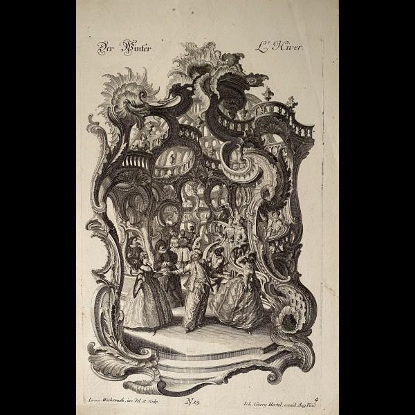 WACHSMUTH JEREMIAS (1711-1771) - SUITE COMPLETE DE QUATRE PLANCHES : LES  SAISONS