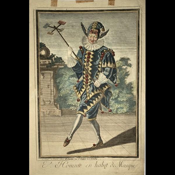 LANDRY GABRIEL(LE?)  (1670-1740 ) - L'HOMME EN HABIT DE MASQUE