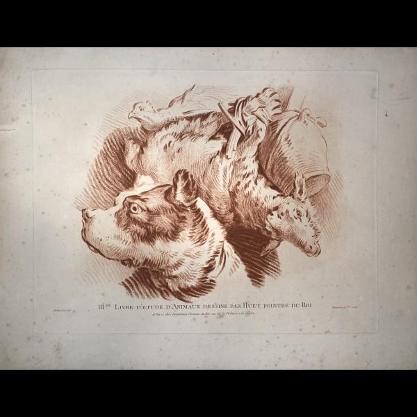 DEMARTEAU GILLES (1729?-1776) - IIIME LIVRE D'ETUDE D'ANIMAUX