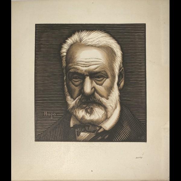 OUVRE ACHILLE ( 1872-1951 ) - PORTRAIT DE VICTOR HUGO