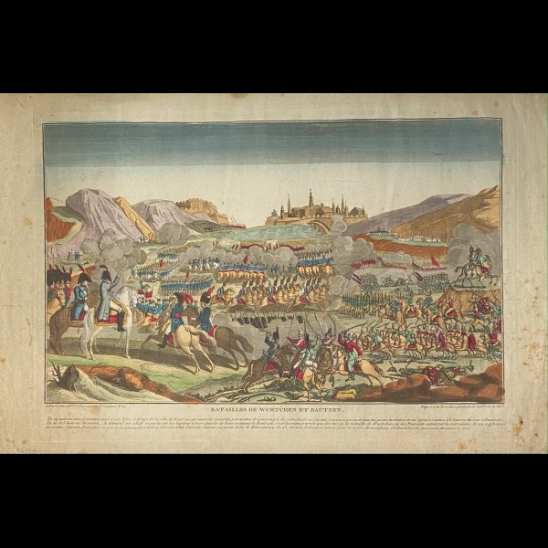 CHEREAU GENEVIEVE ( EDITRICE ACTIVE CA.1787-1814 ) - BATAILLES DE WURTCHEN ET BAUTZEN
