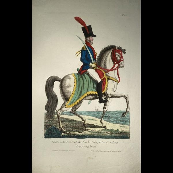 CHEZ JEAN, EDITEUR  ( CA.1820-1830 ) - COMMANDANT EN CHEF DES GUIDES. INTERPRETES CAVALERIE. CONTRE L'ANGLETERRE