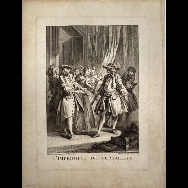 CARS LAURENT ( 1699/1702-1771 ) - L'IMPROMPTU DE VERSAILLES