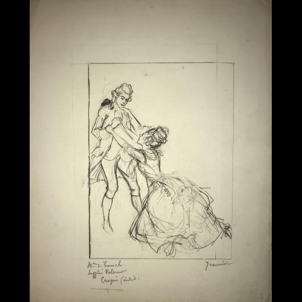 JEANNIOT PIERRE-GEORGES ( 1848-1934 ) - LES LIAISONS DANGEREUSES