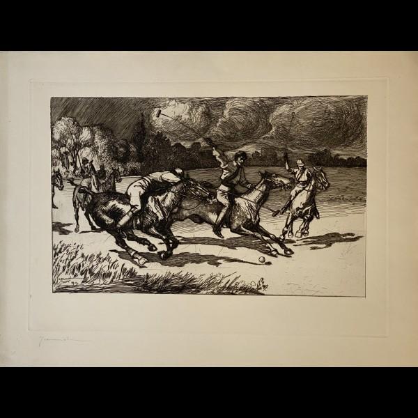 JEANNIOT PIERRE-GEORGES ( 1848-1934 ) - LES JOUEURS DE POLO