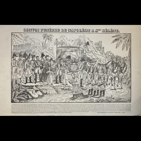 LACOUR (JACQUES STANISLAS PROSPER HUBERT DIT) (actif 1830-1836) - CONVOI FUNEBRE DE NAPOLEON A STE HELENE.