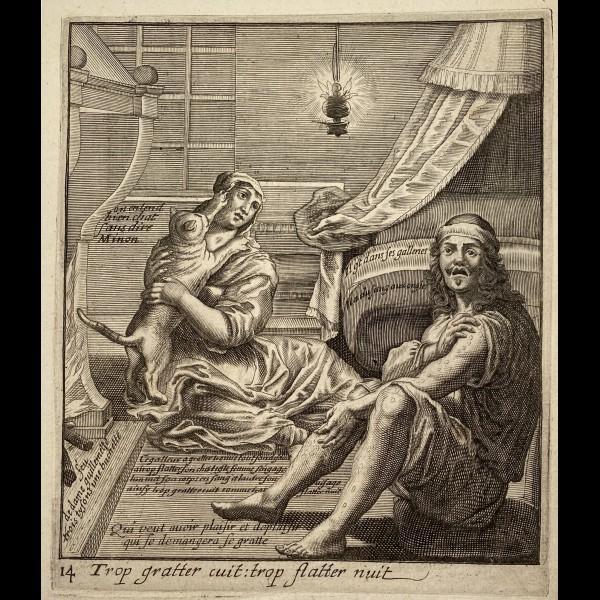 LAGNIET JACQUES (1600?-1675) - TROP GRATTER CUIT : TROP FLATTER NUIT