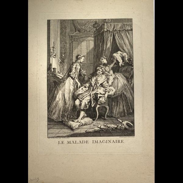 CARS LAURENT ( 1699/1702-1771 ) - LE MALADE IMAGINAIRE