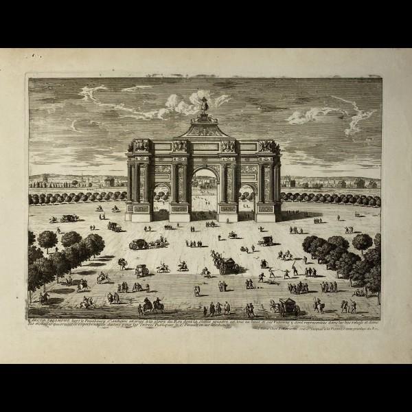 PERELLE GABRIEL (1604-1677 ) - ARC DE TRIOMPHE HORS LE FAUXBOURG SAINT ANTOINE