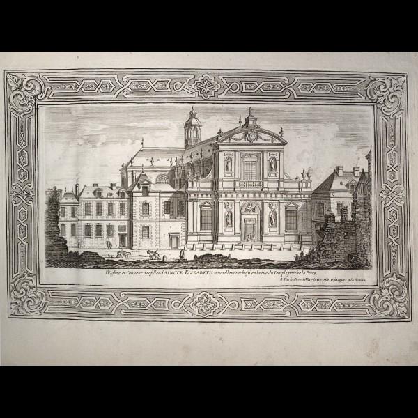 MARIETTE JEAN  (1660-1742) - L'EGLISE ET COUVENT DES FILLES SAINCTE ELIZABETH
