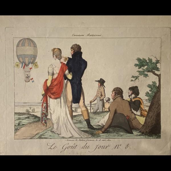 MARTINET AARON ( EDITEUR ACTIF  ENTRE 1796 ET 1824 ) - LE GOUT DU JOUR : ASCENSION DE MADAME GARNERIN LE 22 MARS 1802