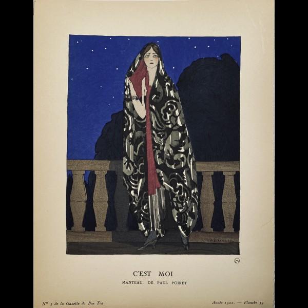 MARTY ANDRE-EDOUARD ( 1882-1974 ) - C'EST MOI, MANTEAU DE PAUL POIRET
