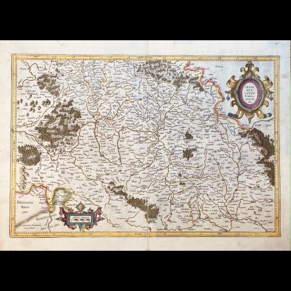 MERCATOR GERARDUS ( 1512-1594 ) - FRANCKENLANDT. FRANCIA ORIENTALIS