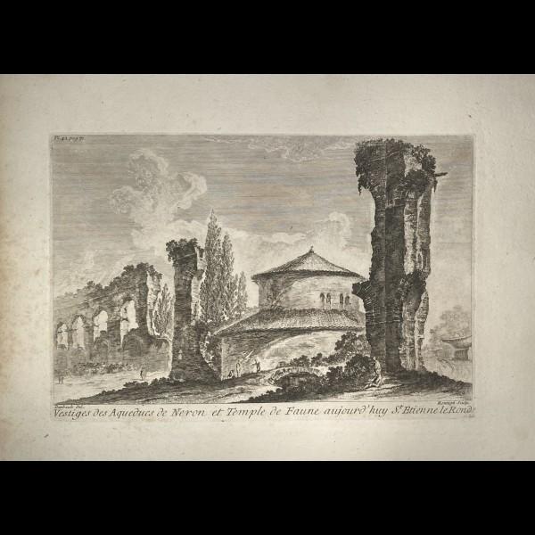 MONTAGU DOMENICO ( ACTIF CA. 1750 ) - VESTIGES DES AQUEDUCS DE NERON ET TEMPLE DE FAUNE AUJOURD'HUI ST.ETIENNE LE ROND