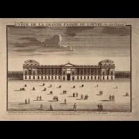 FER NICOLAS DE ( 1646-1720 ) - VEUE DE LA GRANDE FASADE DU LOUVRE (SIC)