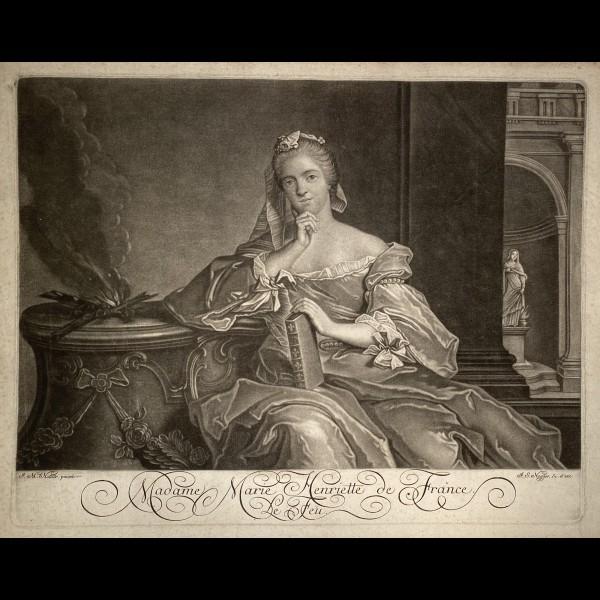 NEGGES JOHANN-SIMON ( CA.1726-1792 ) - MADAME MARIE HENRIETTE DE FRANCE OU LE FEU