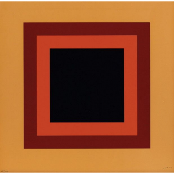 NEMOURS AURÉLIE  ( 1910 - 2005 ) - CARRES SUR FOND ORANGE