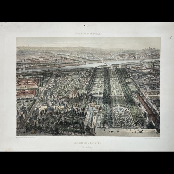 BENOIST FELIX ( 1818-1896 ) - JARDIN DES PLANTES. VU A VOL D'OISEAU