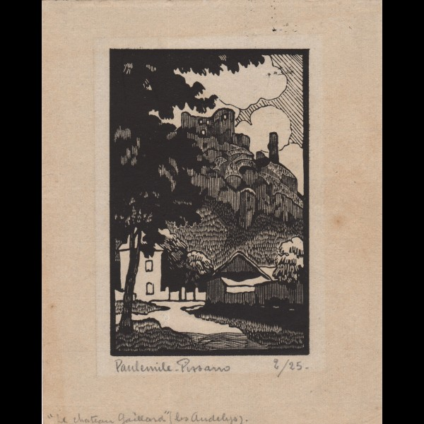 PISSARRO PAUL-EMILE (1884-1972) - CHATEAU GAILLARD, LES ANDELYS, NORMANDIE