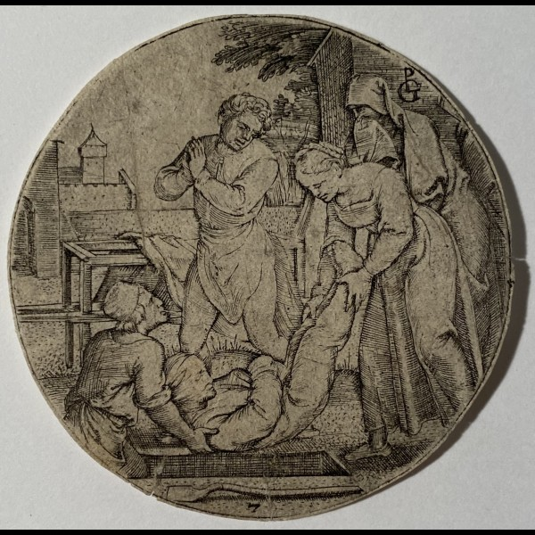PENCZ GEORG  (CA.1500-1550) - ENSEVELIR LES MORTS