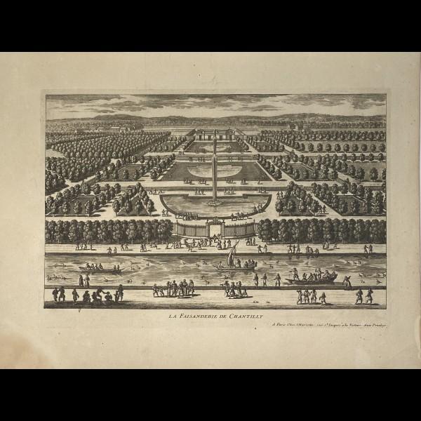 PERELLE GABRIEL (1604-1677 ) - LA FAISANDERIE DE CHANTILLY