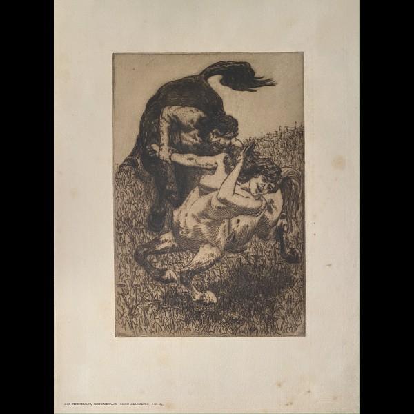 PIETSCHMANN MAX ( 1865-1952 ) - LE CENTAURE, CENTAURENPAAR