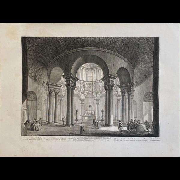 PIRANESI GIOVANNI-BATTISTA  (1720-1778) - VEDUTA INTERNA DEL SEPOLCRO DI S.CONSTANZA