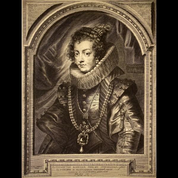 PONTIUS PAULUS ( 1603-1658 ) - ELISABETH DE FRANCE, REINE D'ESPAGNE