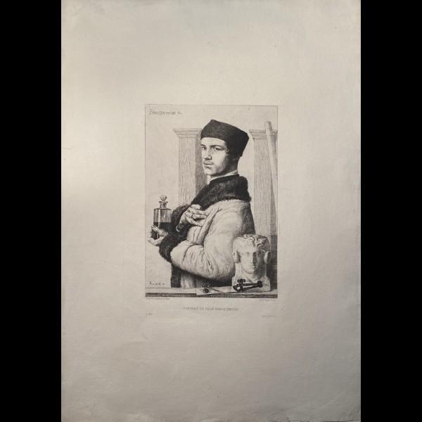 RAJON PAUL (1842/43-1888) - PORTRAIT DE FELIX BRACQUEMOND