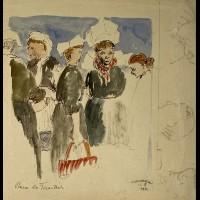 LE FORESTIER RENE ( 1903-1972 ) - MARCHE A CONCARNEAU