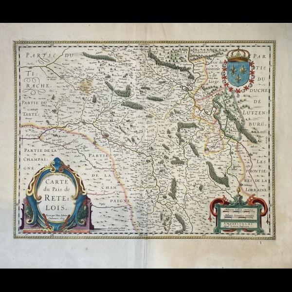 JUBRIEN JEAN (1569-1641) - CARTE DU PAIS DE RETELOIS