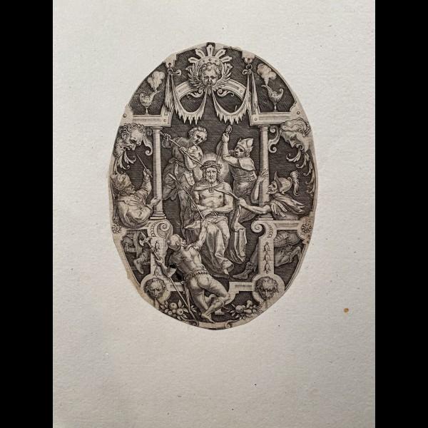 SADELER JOHANNES ( 1550-1600 ) - CHRIST AUX OUTRAGES