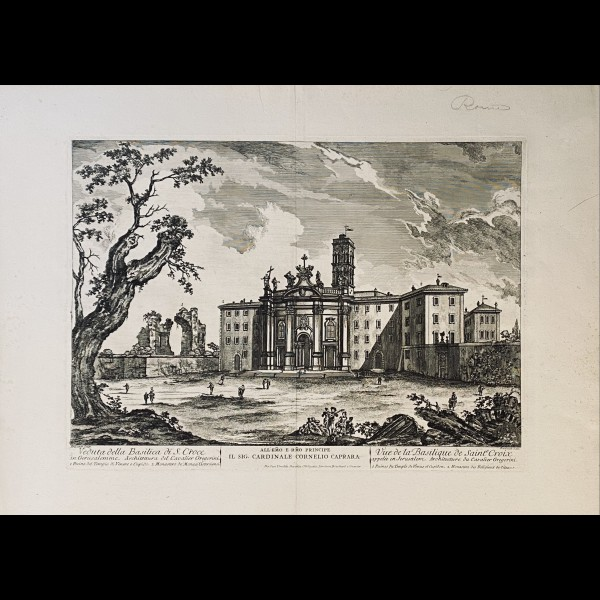 FREICENET ( ACTIF A ROME CA.1760 ) - VEDUTA DELLA BASILICA DI S.CROCE