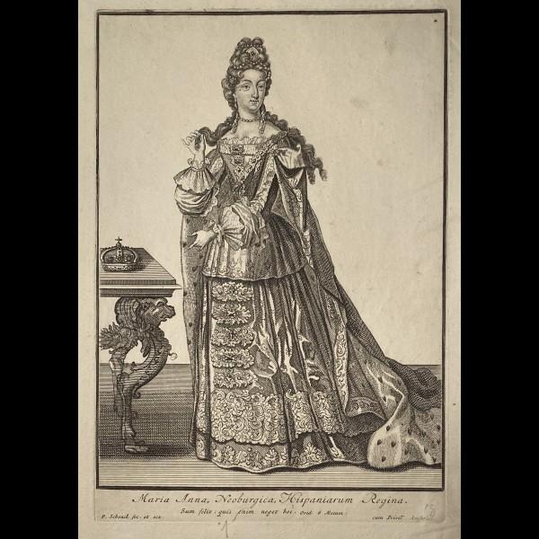 SCHENCK PIETER (1660-1718/19) - MARIA ANNA, NEOBURGICA, HISPANIARUM REGINA