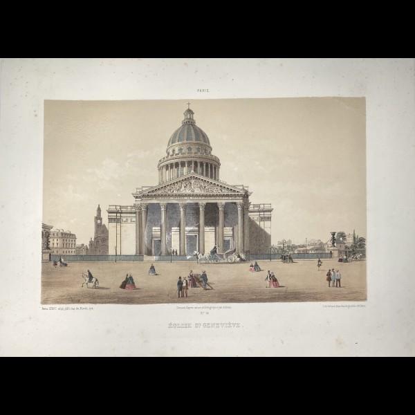 AUBRUN  ( ACTIF CA. 1857 )  - EGLISE SAINTE GENEVIEVE