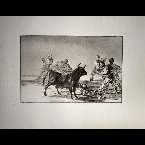 GOYA Y LUCIENTES FRANCISCO JOSE DE ( 1746 - 1828 ) - TAUROMACHIE