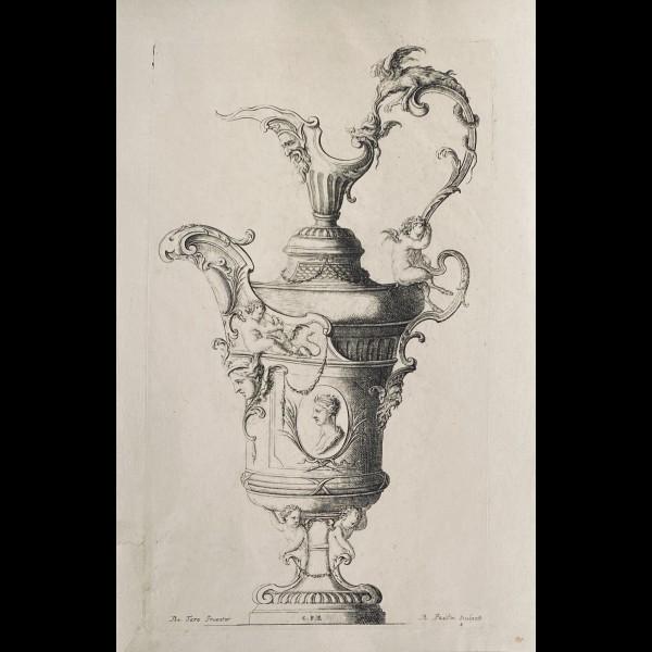 TORO JEAN-BERNARD ( 1661-1731 ) - VASE N°4