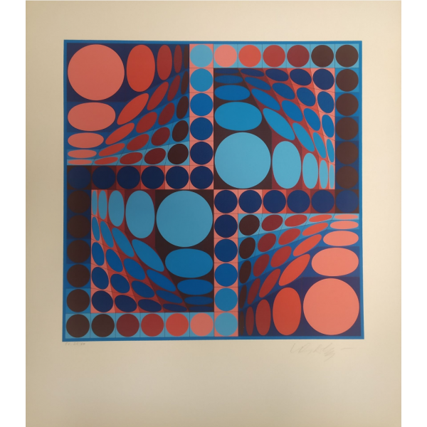 VASARELY VICTOR (1906-1997) - THEZ