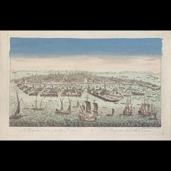 DAUMONT CUNY-FRANCOIS DIT JEAN-FRANCOIS ( 1717-1768 ) - A PERSPECTIVE VIEW OF THE CITY OF VENICE - VUE PERSPECTIVE DE LA VILLE DE VENISE
